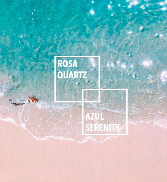 Rosa cuarzo + Serenity: Los colores del verano de 2016